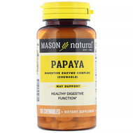 3 PACK of Mason Natural, Papaya, Digestive Enzyme Complex, 100 Chewables