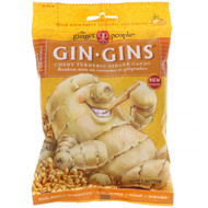 3 PACK of The Ginger People, Gin Gins, Ginger Candy,  Spicy Turmeric, 5.3 oz (150 g)