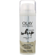 3 PACK of Olay, Total Effects, Cleansing Whip, Polishing Creme Cleanser, 5 fl oz (150 ml)