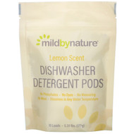 3 PACK of Mild By Nature, Automatic Dishwashing Detergent Pods, Lemon Scent, 10 Loads, 0.39 lbs, 6.24 oz (177 g)