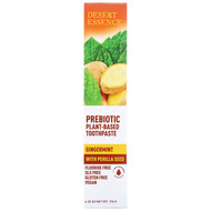 3 PACK of Desert Essence, Prebiotic, Plant-Based Toothpaste, Gingermint,  6.25 oz (176 g)