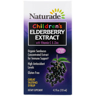 Naturade, Childrens Elderberry Extract with Vitamin C & Zinc, 4.2 fl oz (125 ml)