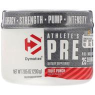 Dymatize Nutrition, Athletes Pre, Pre-Workout, Fruit Punch, 7.05 oz (200 g)