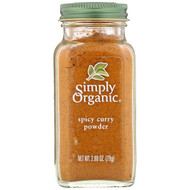 3 PACK of Simply Organic, Spicy Curry Powder, 2.80 oz (79 g)