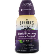 Zarbees, NightTime Black Elderberry Immune Support, 8 fl oz (236 ml)