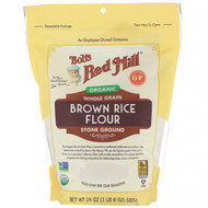3 PACK of Bobs Red Mill, Organic Brown Rice Flour, Whole Grain, 24 oz (680 g)