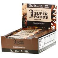 Dr. Murrays, Superfoods Protein Bars, Vegan Ginger Snap, 12 Bars, 2.05 oz (58 g) Each