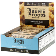 Dr. Murrays, Superfoods Protein Bars, Cookie Dough Delight, 12 Bars, 2.05 oz (58 g) Each