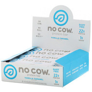 No Cow, Protein Bar, Vanilla Caramel, 12 Bars, 2.12 oz (60 g) Each