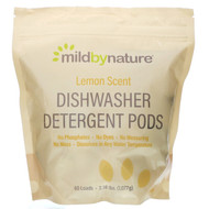 Mild By Nature, Automatic Dishwashing Detergent Pods, Lemon Scent, 60 Loads, 2.38 lbs, 36.48 oz (1,077 g)