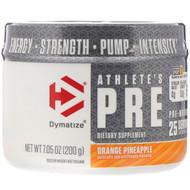 Dymatize Nutrition, Athletes Pre, Pre-Workout, Orange Pineapple, 7.05 oz (200 g)