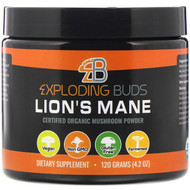 Exploding Buds, Lions Mane, Certified Organic Mushroom Powder, 4.2 oz (120 g)