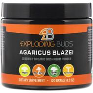 Exploding Buds, Agaricus Blazei, Certified Organic Mushroom Powder, 4.2 oz (120 g)