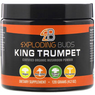 Exploding Buds, King Trumpet, Certified Organic Mushroom Powder, 4.2 oz (120 g)
