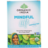 Organic India, Mindful Lift, Fermented Adaptogens, 15 Packs, 0.1 oz (3 g) Each