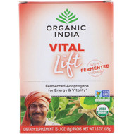 Organic India, Vital Lift, Fermented Adaptogens, 15 Packs, 0.1 oz (3 g) Each
