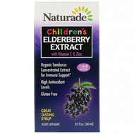 Naturade, Childrens Elderberry Extract Syrup with Vitamin C & Zinc, 8.8 fl oz (260 ml)
