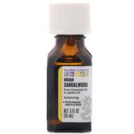 Aura Cacia, Pure Essential Oil In Jojoba Oil, Indian Sandalwood, .5 fl oz (15 ml)
