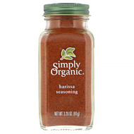 3 PACK of Simply Organic, Harissa Seasoning, 3.20 oz (91 g)