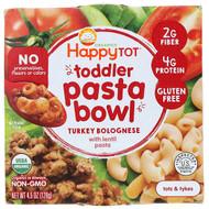 3 PACK of Happy Family Organics, Organics Happy Tot, Toddler Pasta Bowl, Turkey Bolognese, 4.5 oz (128 g)