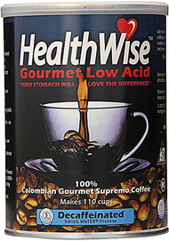 HealthWise Colombian Gourmet Low Acid Supremo Decaffeinated Coffee -- 12 oz