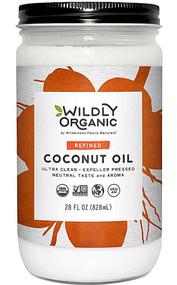 Wildly Organic Refined Coconut Oil -- 28 fl oz