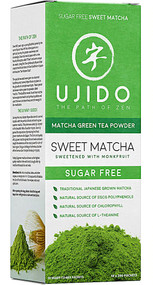 Ujido Sweet Matcha Green Tea Powder Sweetened with Monkfruit -- 10 Packets
