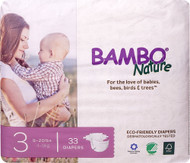 Bambo Nature Baby Diapers Stage 3 - 9 to 20 lbs -- 33 Diapers