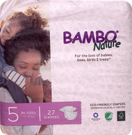 Bambo Nature Baby Diapers Stage 5 - 24 to 55 lbs -- 27 Diapers
