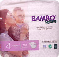 Bambo Nature Baby Diapers Stage 4 - 15 to 40 lbs -- 30 Diapers