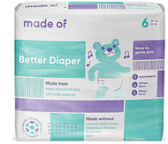 MADE OF Disposable Baby Diapers - Size 6 -- 21 Diapers
