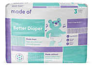 MADE OF Disposable Baby Diapers - Size 3 -- 32 Diapers