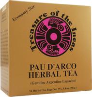 Hobe Labs Treasure of the Incas Pau D'Arco Herbal Tea -- 54 Tea Bags