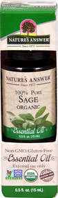 Nature's Answer 100% Pure Organic Essential Oil Sage -- 0.5 fl oz