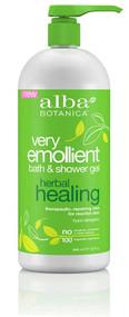 Alba Botanica Very Emollient Bath and Shower Gel Herbal Healing -- 32 fl oz