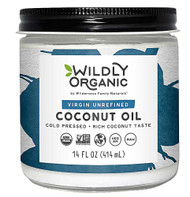 Wildly Organic Virgin Unrefined Coconut Oil -- 14 fl oz