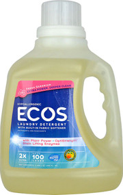 Earth Friendly Ecos Laundry Detergent with Enzymes Geranium -- 100 fl oz