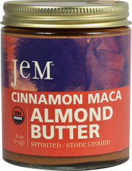 Jem Raw Organic Sprouted Almond Butter Cinnamon -- 6 oz