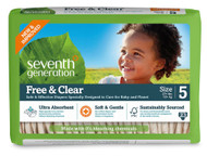 Seventh Generation Baby Free and Clear Diapers Stage 5: 27-35 lbs -- 23 Diapers
