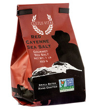 3 PACK of Gustus Vitae Gourmet Sea Salt Red Cayenne -- 1 lb