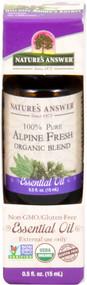 3 PACK of Nature's Answer 100% Pure Organic Essential Oil Blend Alpine Fresh -- 0.5 fl oz