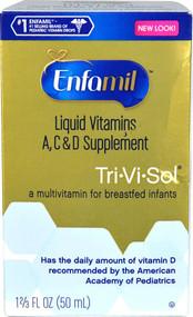3 PACK of Enfamil Tri-Vi-Sol Liquid Multivitamin for Breastfed Infants -- 50 mL