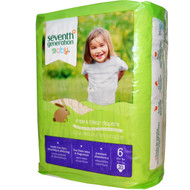 3 PACK of Seventh Generation Baby Free and Clear Diapers Stage 6: 35 plus lbs -- 20 Diapers