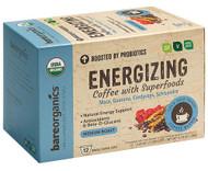 3 PACK of BareOrganics Functional Single Serve Coffee Energizing -- 12 Single-Serve Cups