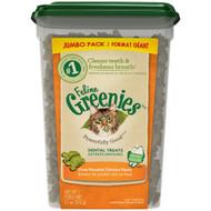 3 PACK of Greenies Feline Oven Roasted Chicken Flavor Dental Cat Treats Chicken -- 11 oz