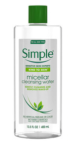 3 PACK of Simple Kind To Skin Micillar Cleansing Water -- 13.5 oz