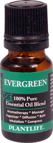 3 PACK of Plantlife 100% Pure Essential Oil Blend Evergreen -- 0.33 fl oz