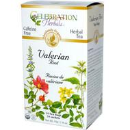 3 PACK of Celebration Herbals Organic Valerian Root Tea Caffeine Free -- 24 Herbal Tea Bags