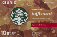 3 PACK of Starbucks Flavored Ground Coffee Toffeenut -- 10 K-Cups