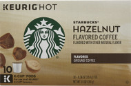 3 PACK of Starbucks Flavored Ground Coffee Hazelnut -- 10 K-Cups